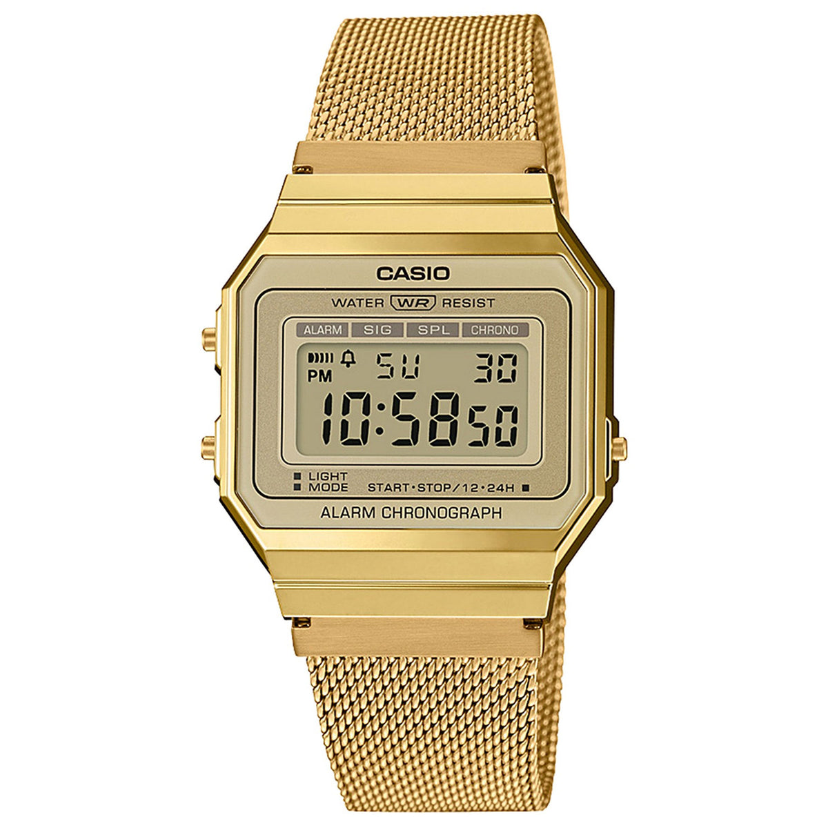 Casio: A700WMG-9AVT Classic Watch - Gold