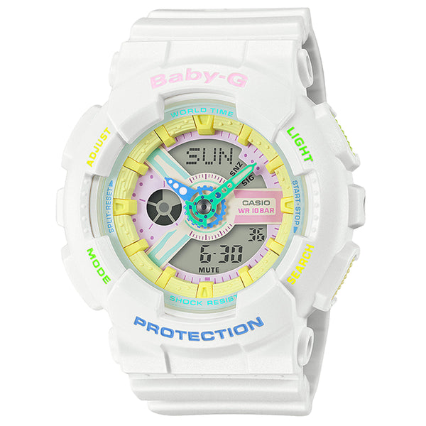 G-Shock: BA110TM-7A Baby G Watch - White