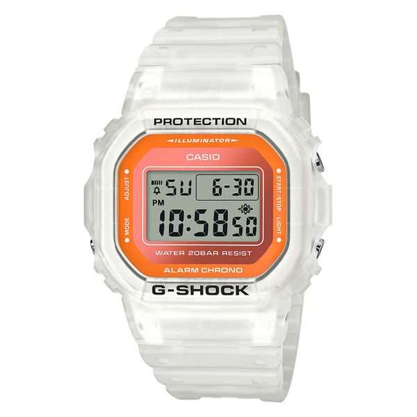 G-Shock: DW5600LS-7 Watch - White / Clear