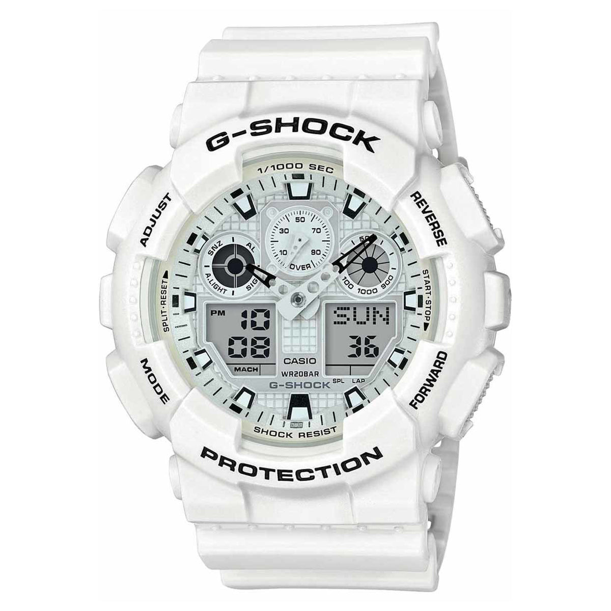G-Shock: GA110MW-7A Analog Digital Watch - Marine White