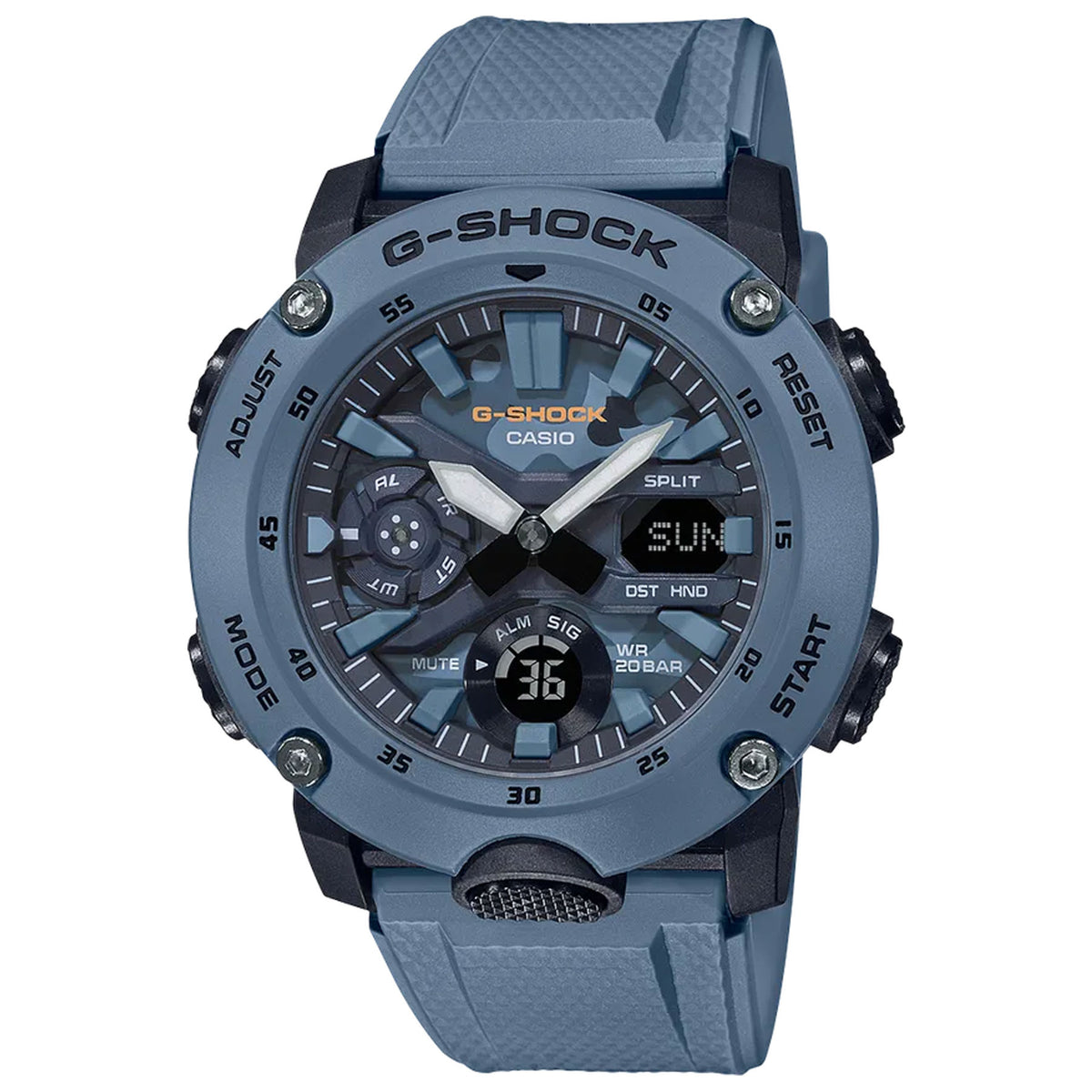 G-Shock: GA2000SU-2A Watch - Blue Camouflage