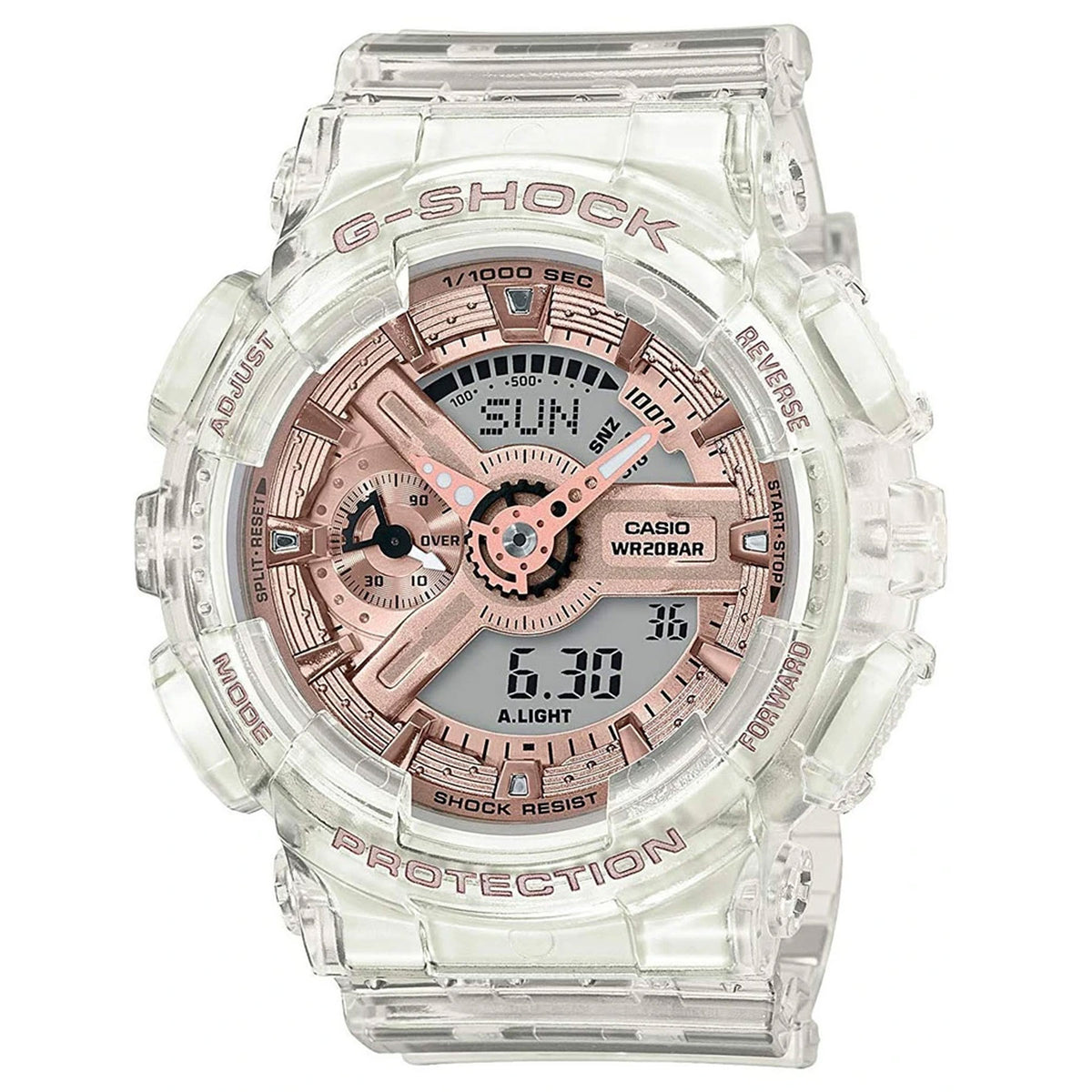 G-Shock: GMAS110SR-7A Watch - Clear / Rose Gold