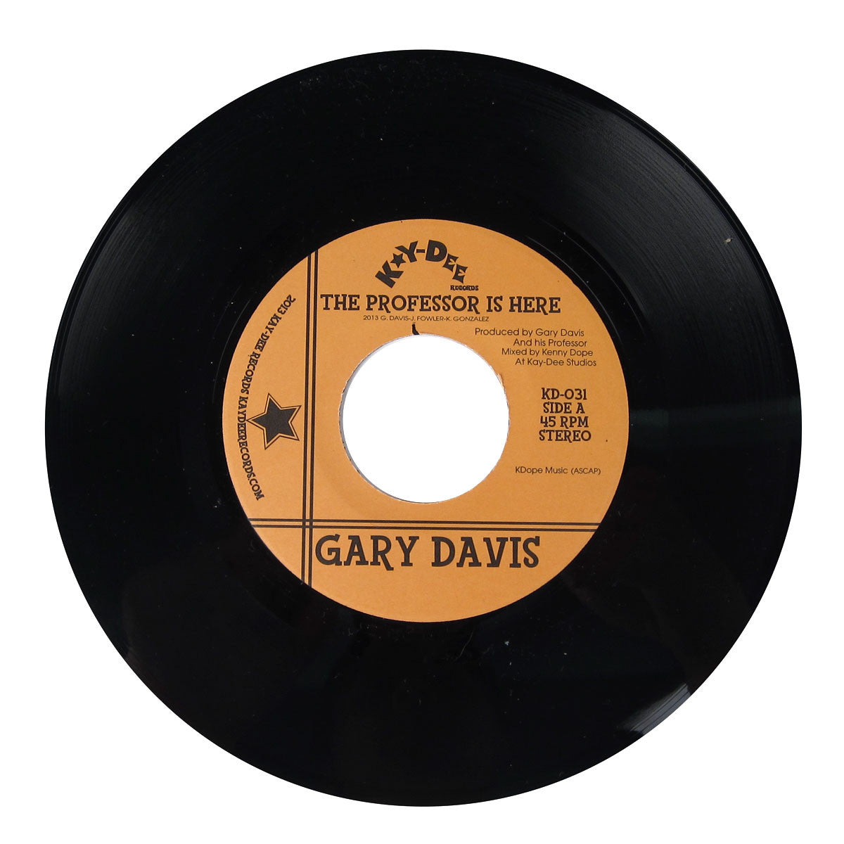 Gary Davis: The Professor Is Here / The Pop Vinyl (Kenny Dope Mix) 7""