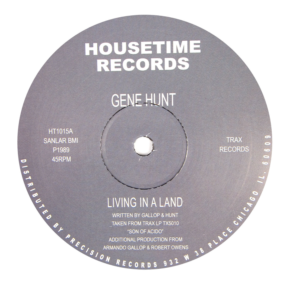 Gene Hunt: Living In A Land Vinyl 12""