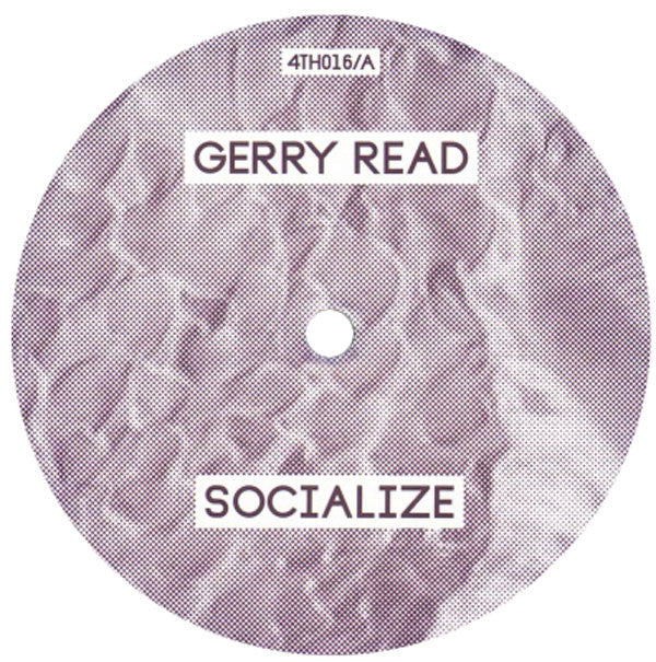 "Gerry Read: Socialize / Charcoal Vinyl 12"" (Record Store Day 2014)"