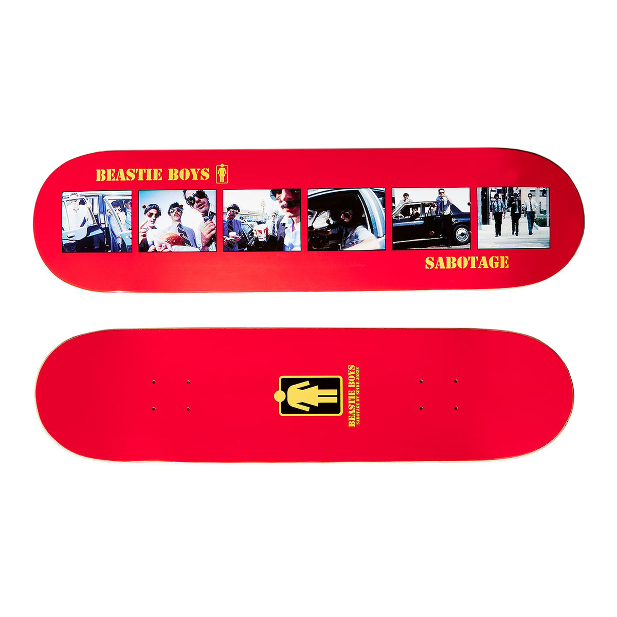 Beastie Boys: Sabotage Skateboard Deck By Girl Skateboards / Spike Jonze - 8.25""