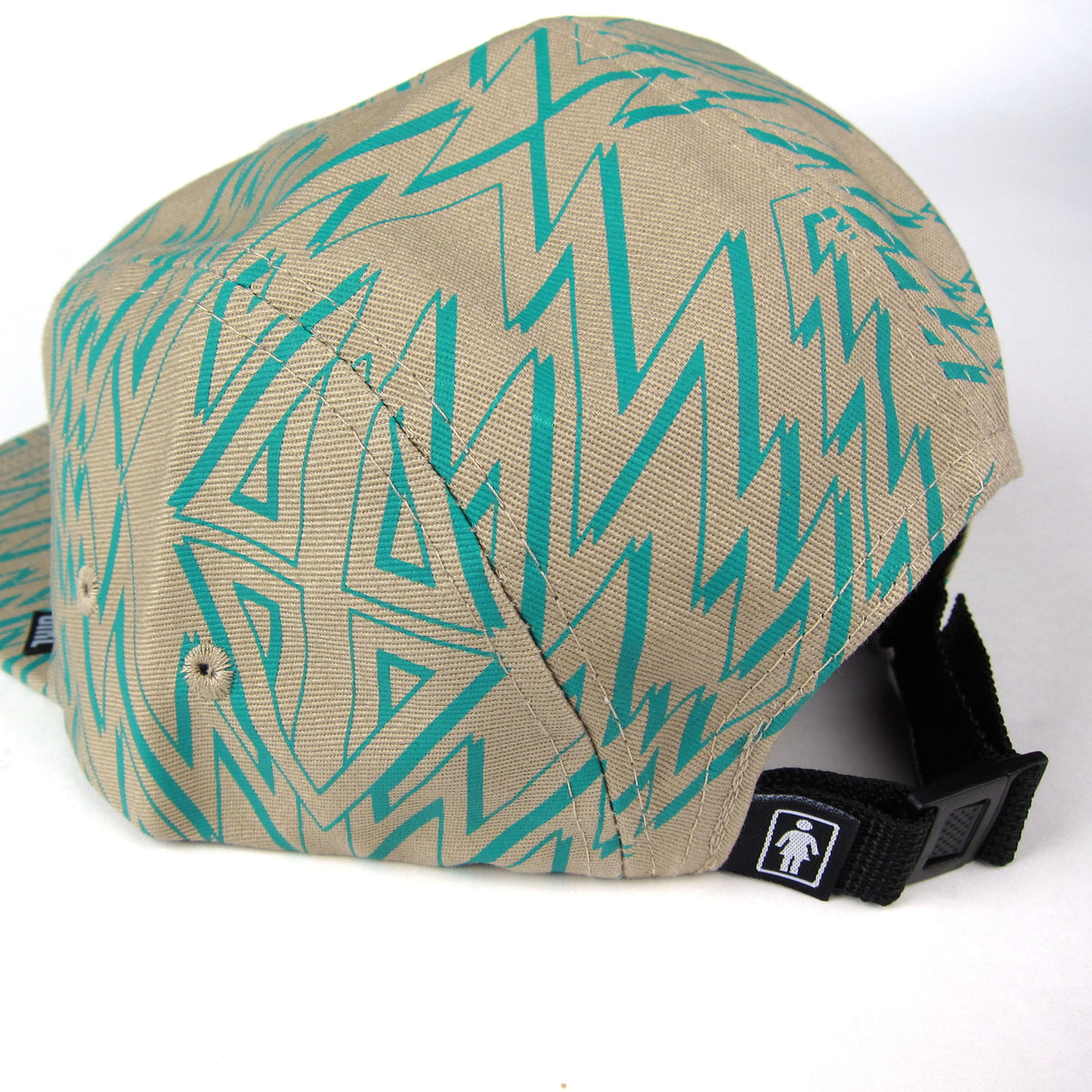 Girl: Zig Zag Camper Hat - Tan back