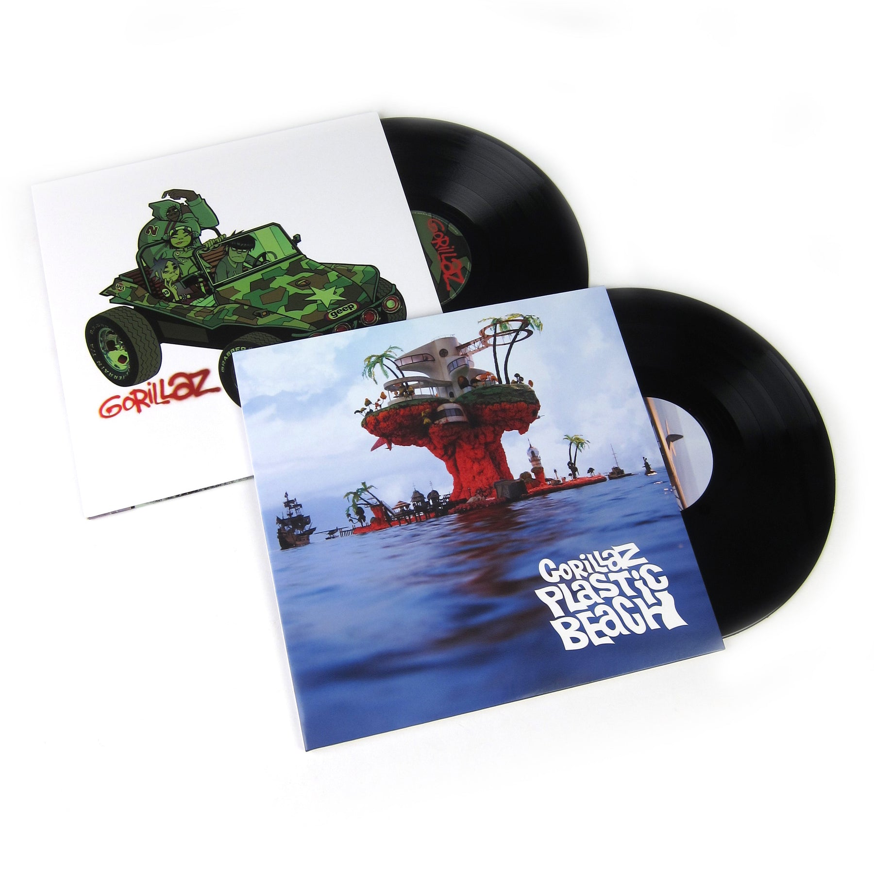 gorillaz vinyl lp album pack gorillaz plastic beach. Black Bedroom Furniture Sets. Home Design Ideas