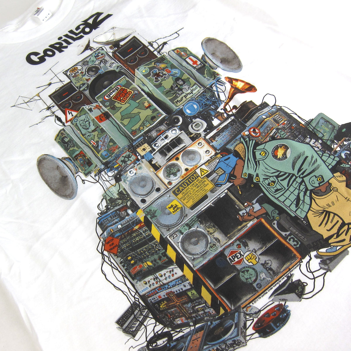 Gorillaz: Multi Boomboxes Shirt - White detail