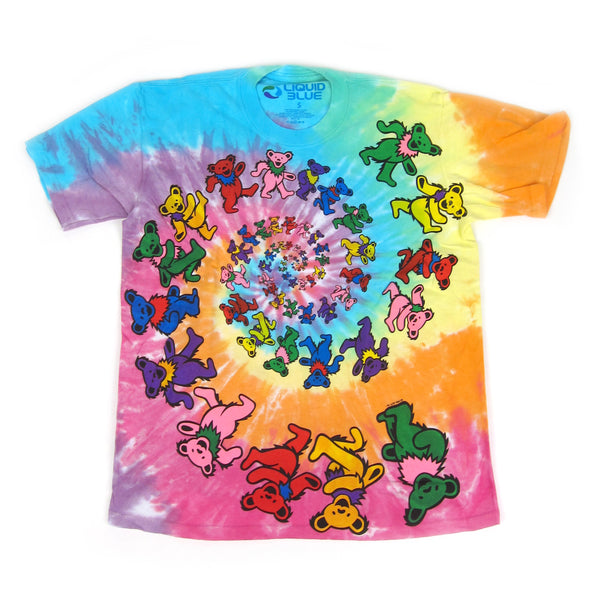 Grateful Dead: Spiral Bears Youth Shirt - Tie Dye