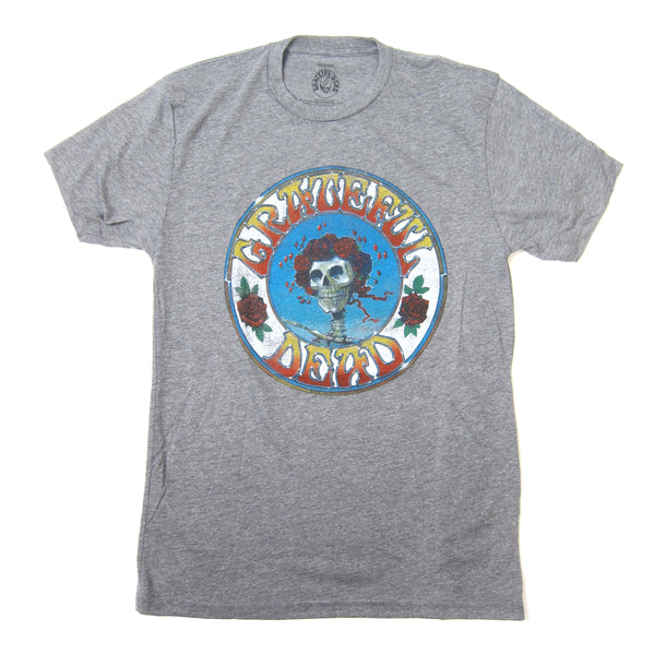 Grateful Dead: Skull & Roses Distressed Shirt - Grey