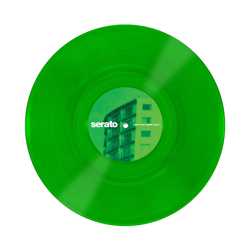 Serato: 10'' Serato Control Vinyl - Green Glass (Pair) record