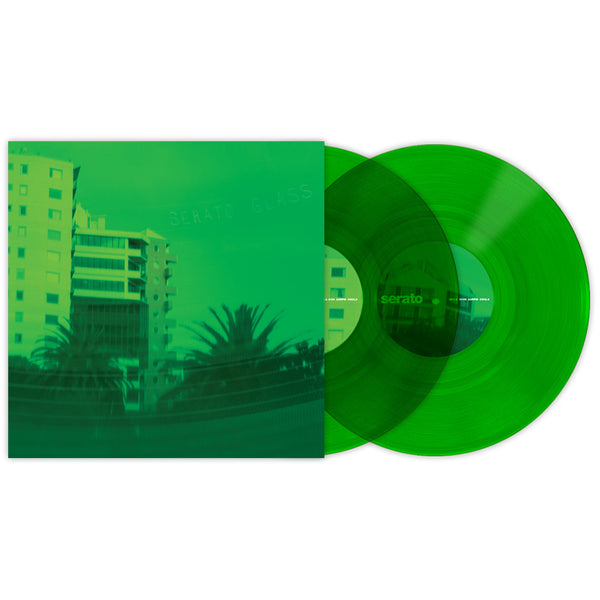 Serato: 10'' Serato Control Vinyl - Green Glass (Pair)