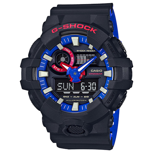 G-Shock: GA-700LT-1A Analog-Digital Watch - Black / Red