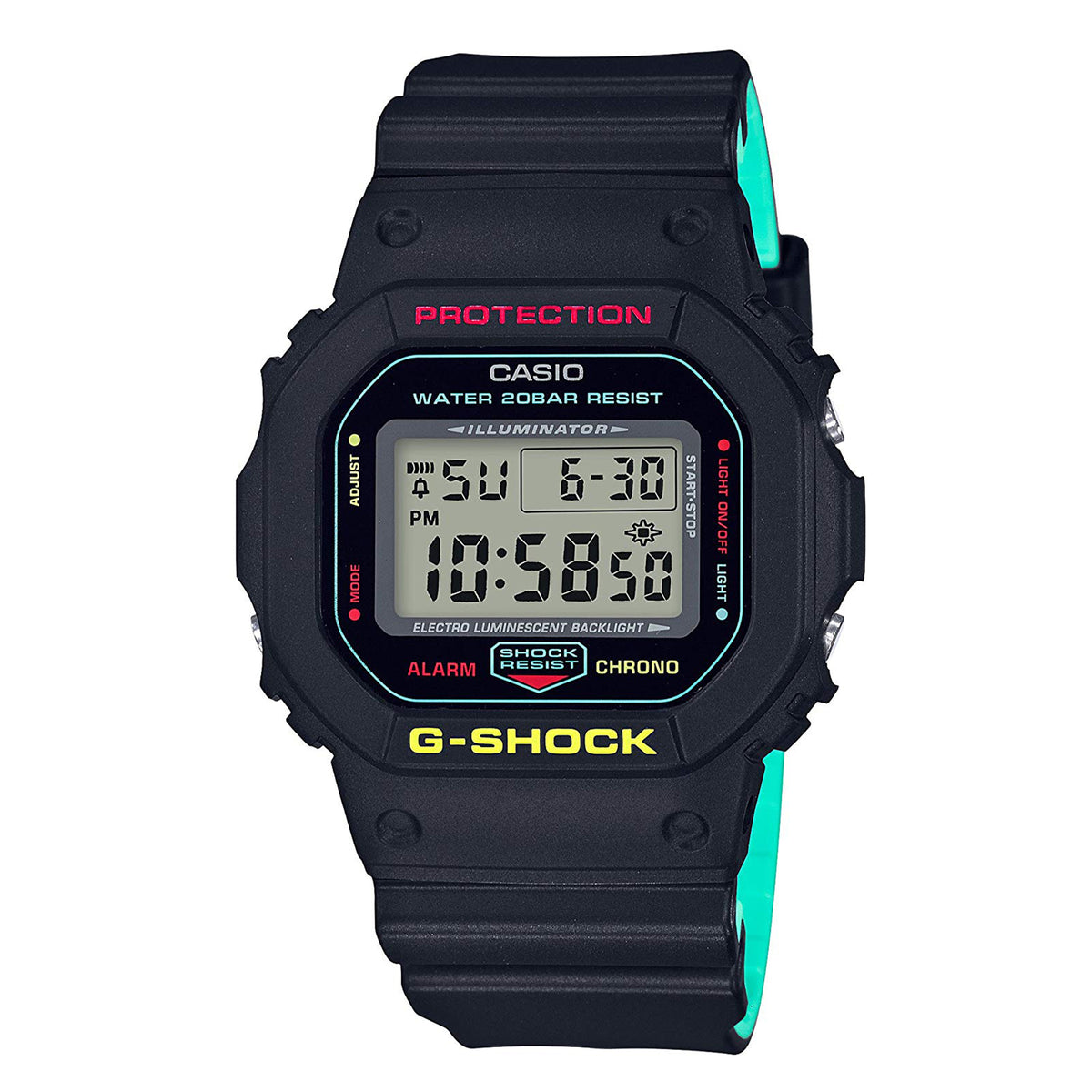 G-Shock: DW-5600CMB-1 Breezy Rasta Color Series Watch - Black
