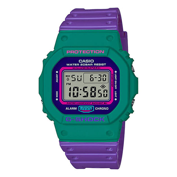 G-Shock: DW-5600TB-6 Watch - Purple / Green