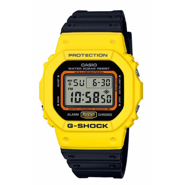 G-Shock: DW-5600TB-1 Watch - Black / Yellow