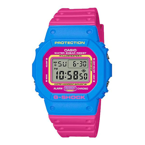 G-Shock: DW-5600TB-4B Watch - Pink / Light Blue