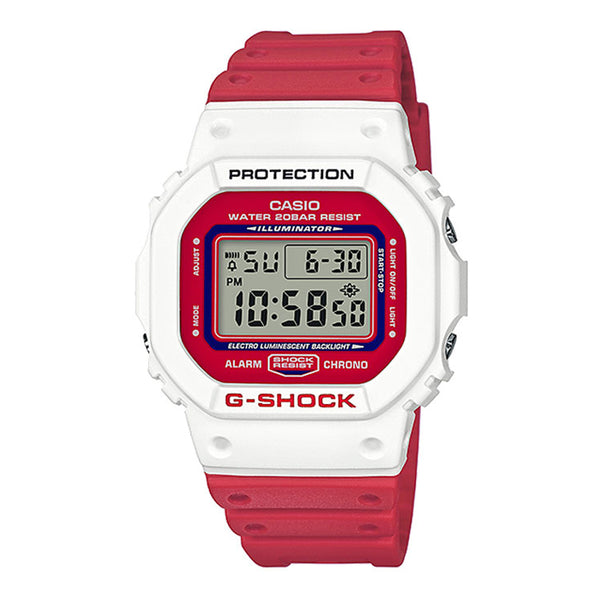G-Shock: DW-5600TB-4A Watch - Red / White