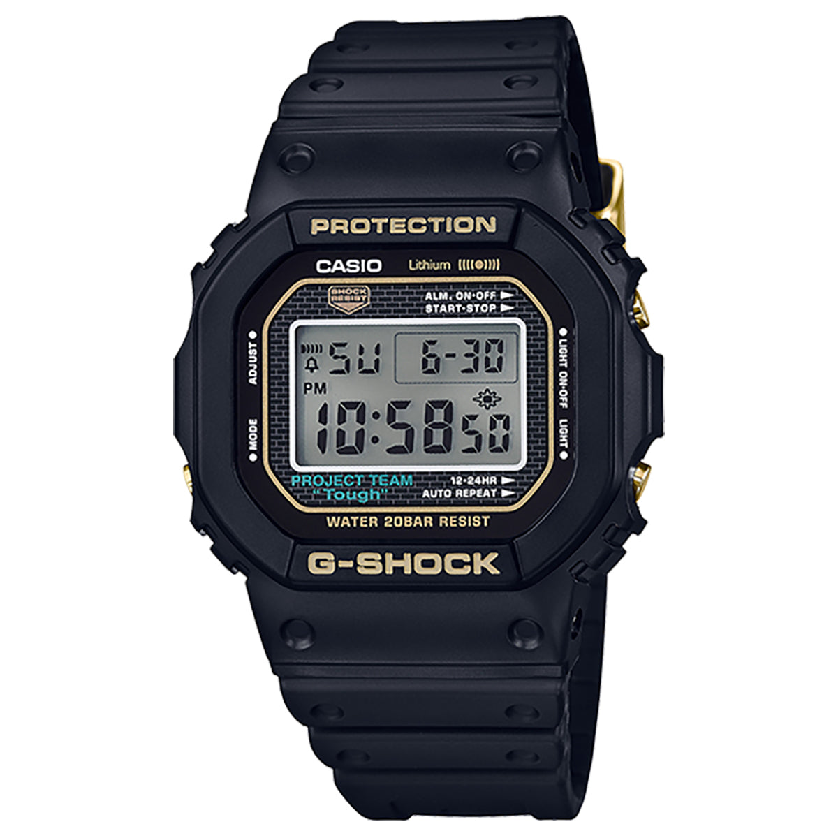 G-Shock: DW5035D-1B Digital Watch - Black / Gold