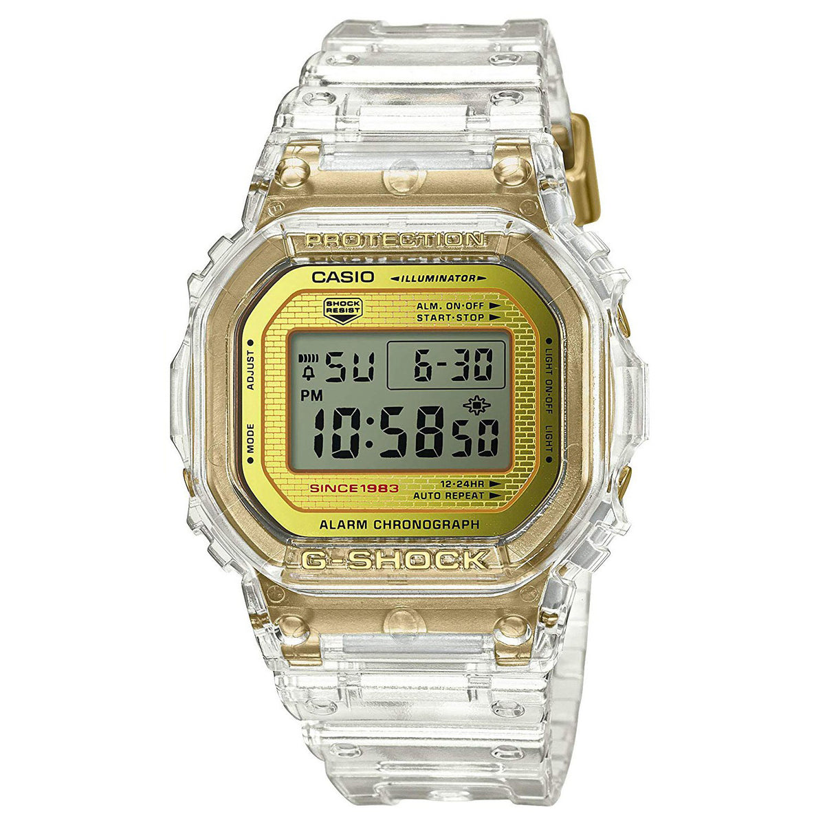 G-Shock: DW5035E-7 Skeleton Collection Watch - Clear