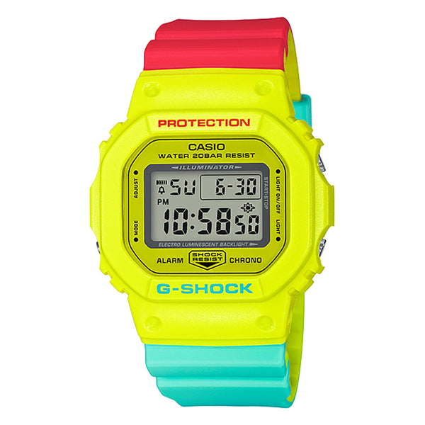 G-Shock: DW-5600CMA-9 Breezy Rasta Color Series Watch - Yellow