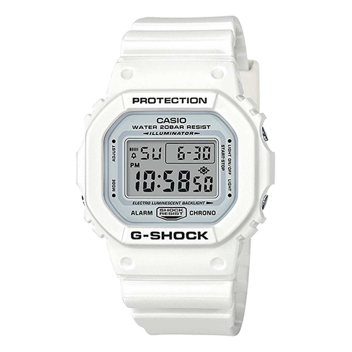 G-Shock: DW5600MW-7 Watch - Marine White