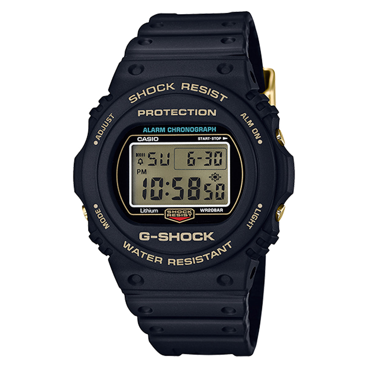 G-Shock: DW5735D-1B Digital Watch - Black / Gold