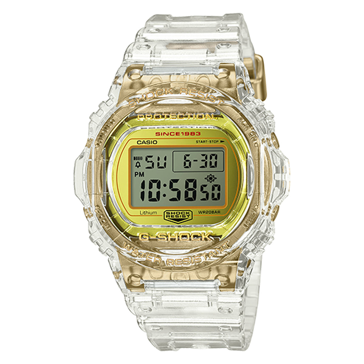 G-Shock: DW5735E-7 Skeleton Collection Watch - Clear