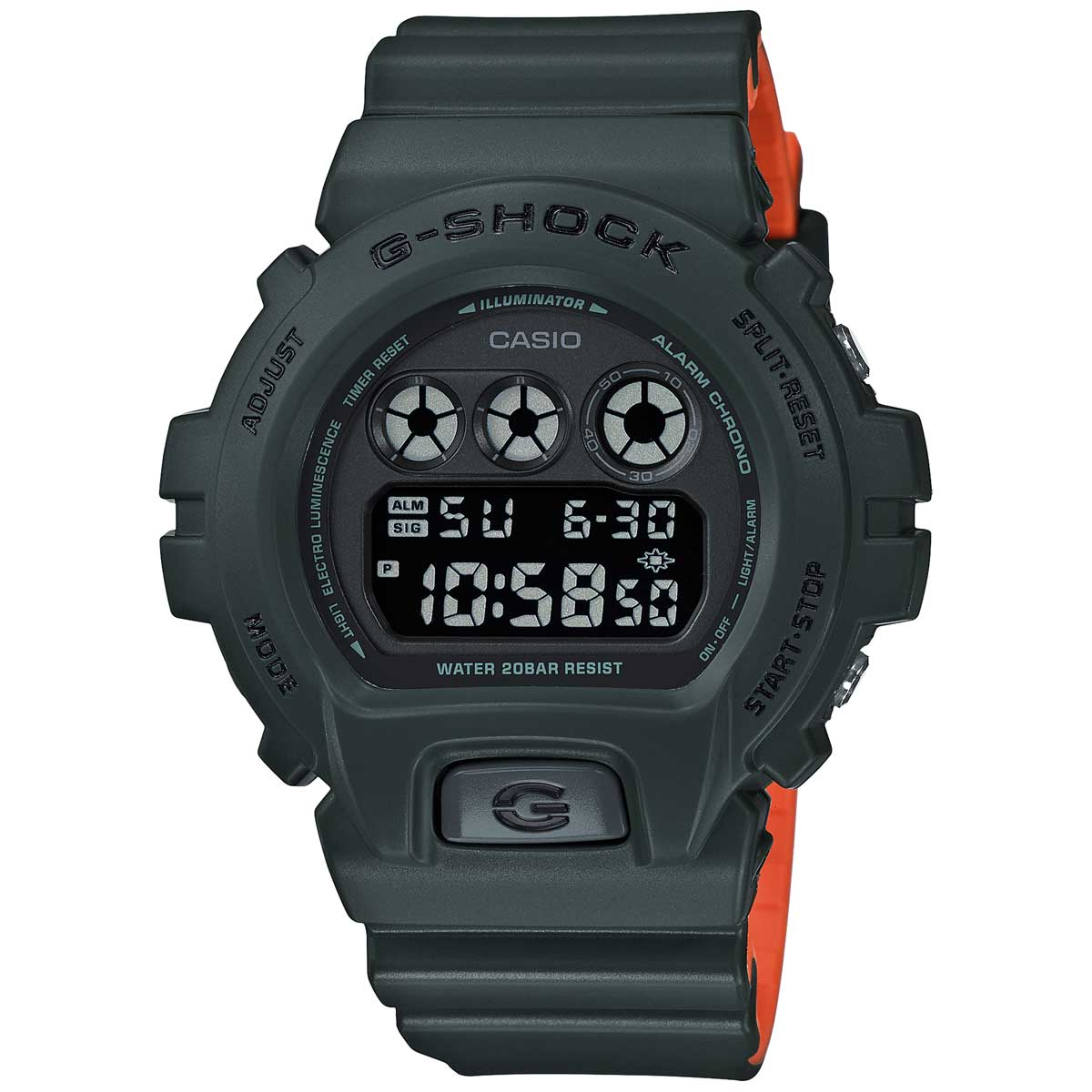 G-Shock: DW6900LU-3 Watch - Green