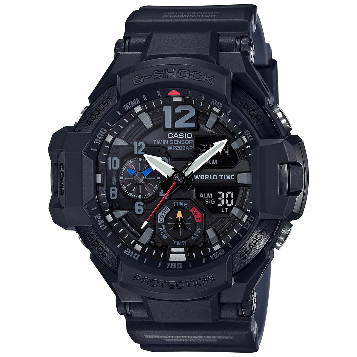 G-Shock: GA-1100-1A1 Master of G Gravitymaster Watch - Black