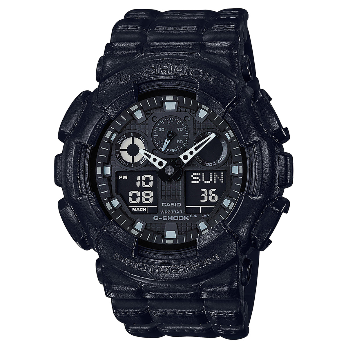 G-Shock: GA100BT-1A Analog-Digital Watch - Black