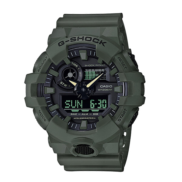 G-Shock: GA-700UC-3A Utility Color Watch - Olive Green