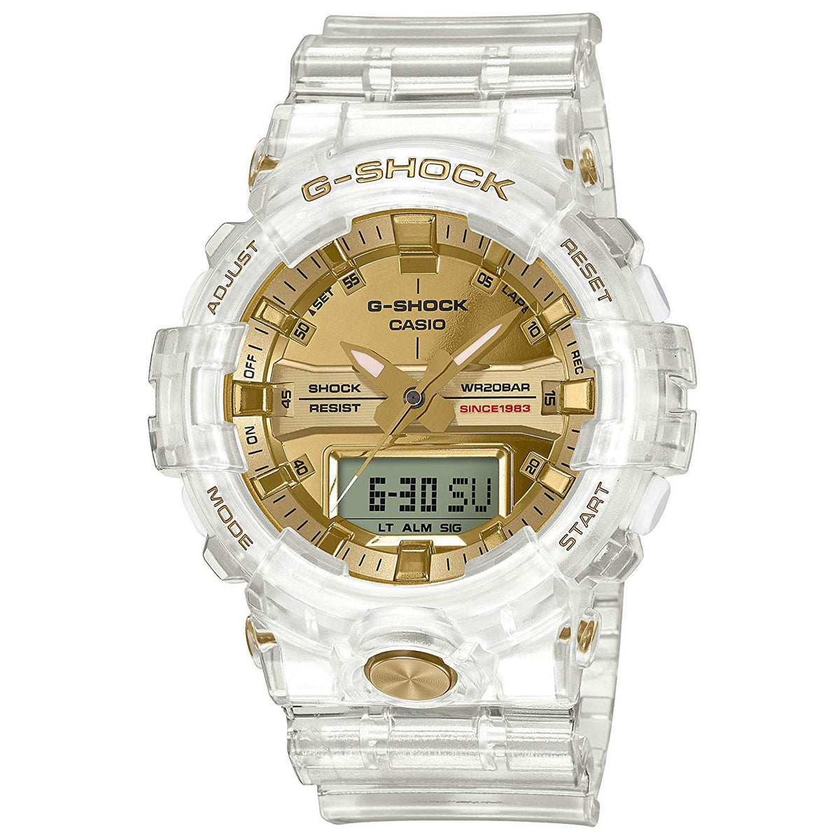 G-Shock: GA835E-7A Skeleton Collection Watch - Clear
