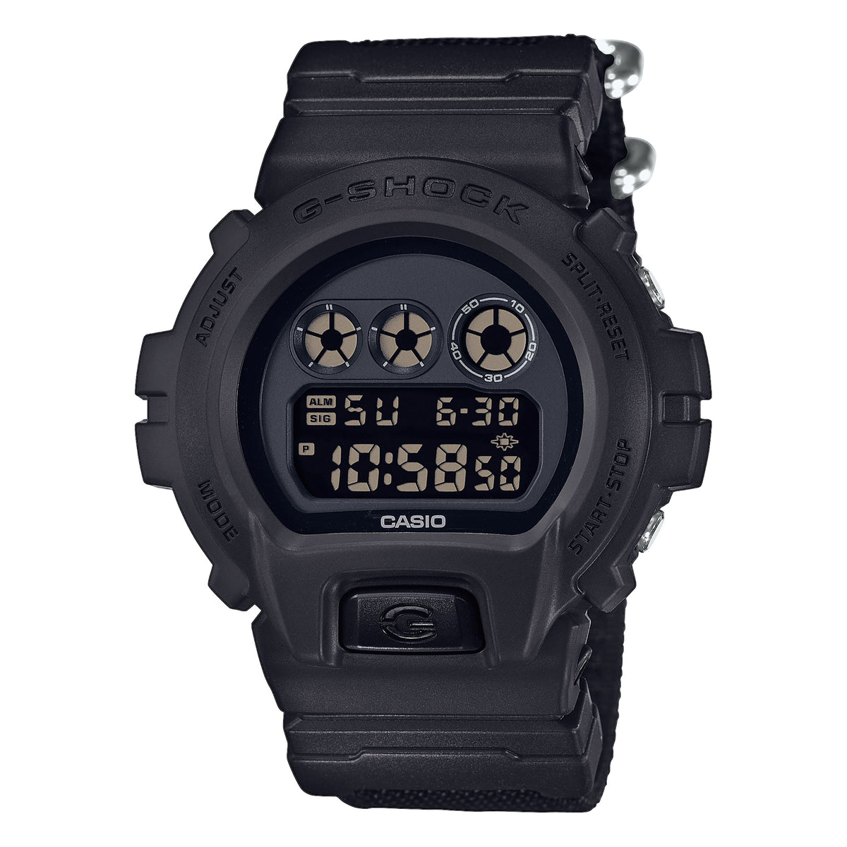 G-Shock: DW-6900BBN-1 Watch - Black / Nylon Band