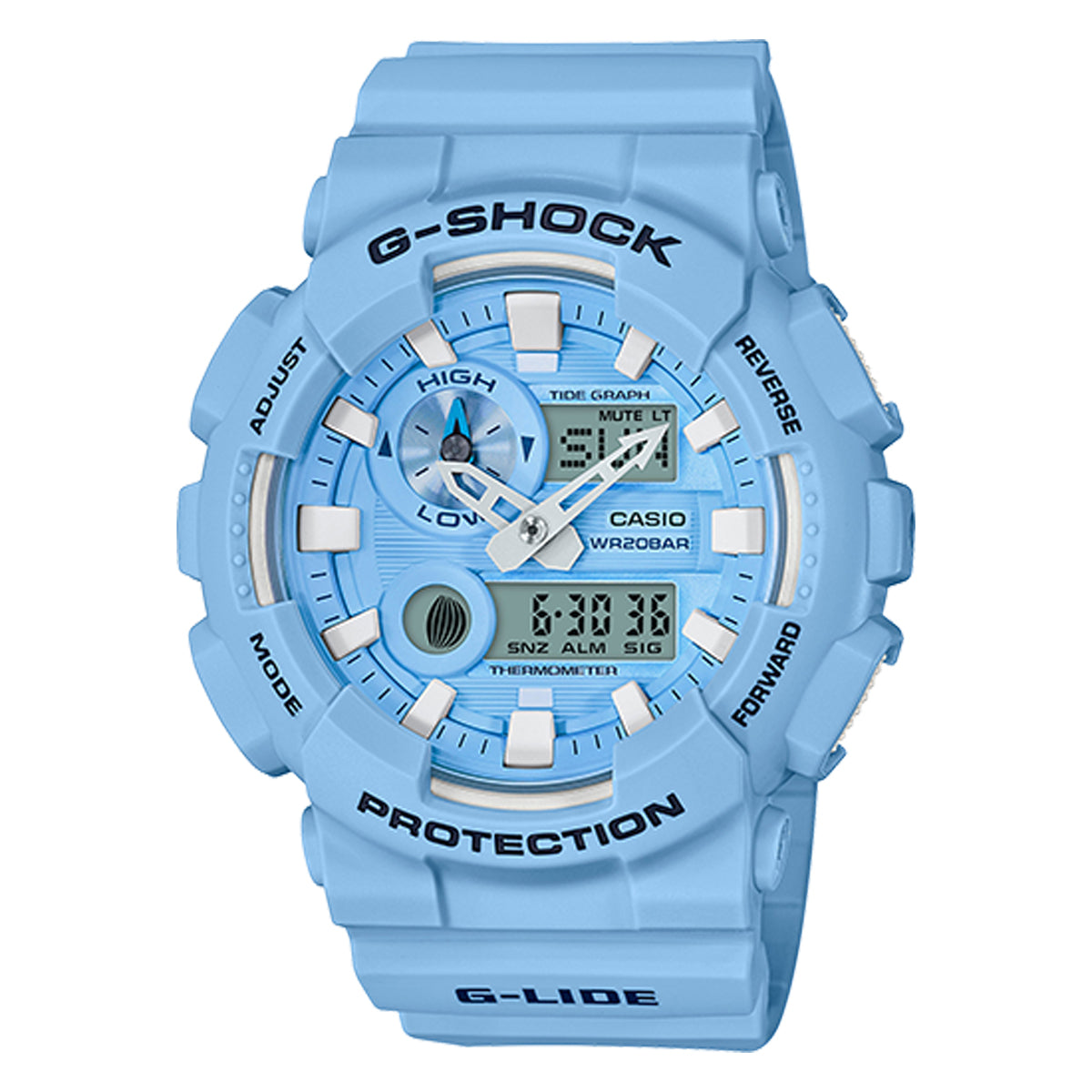 G-Shock: GAX100CSA-2A Analog Digital Watch - Pearl Blue