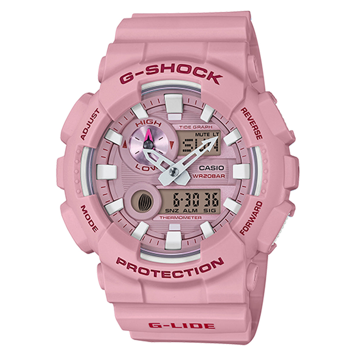 G-Shock: GAX100CSA-4A Analog Digital Watch - Pink