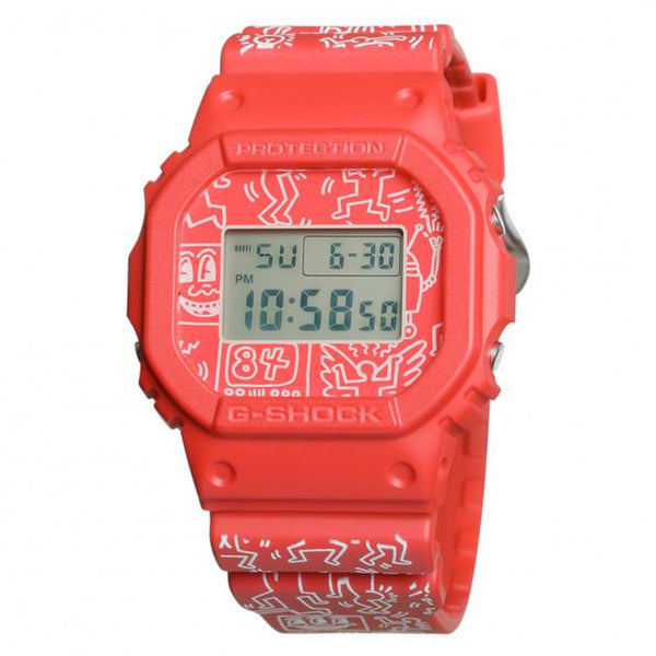 G-Shock: Casio x Keith Haring Watch - Red (DW-5600KEITH 19-4)