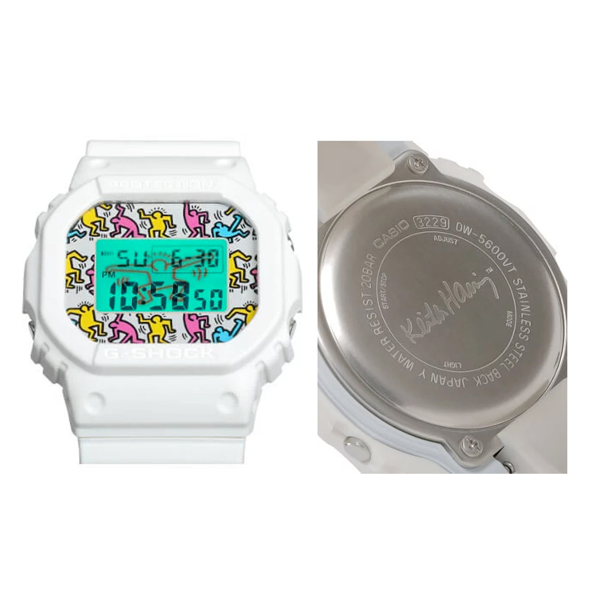 G-Shock: Casio x Keith Haring Watch - White (DW-5600KEITH 19-7)