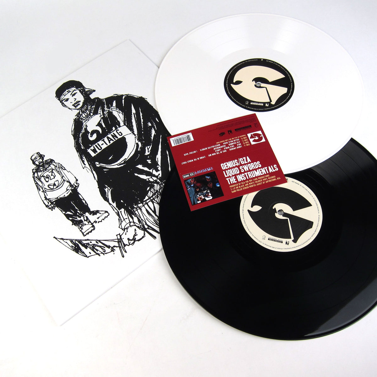 Genius/GZA: Liquid Swords Instrumentals (Black + White Vinyl) Vinyl 2LP detail