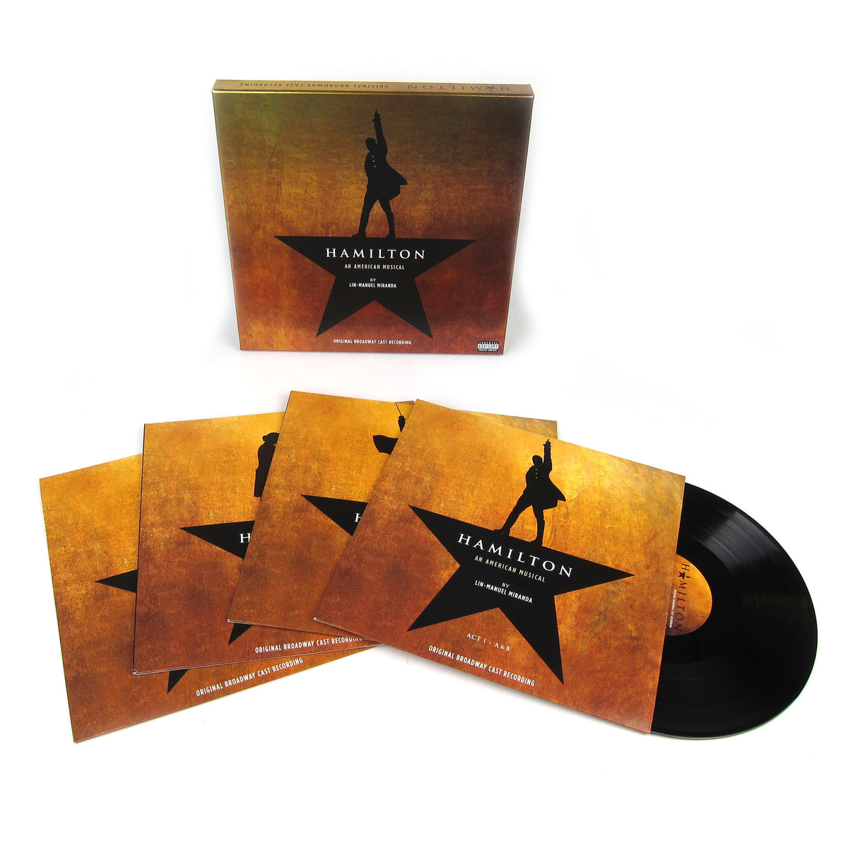Hamilton: Original Broadway Cast Recording Vinyl 4LP Boxset