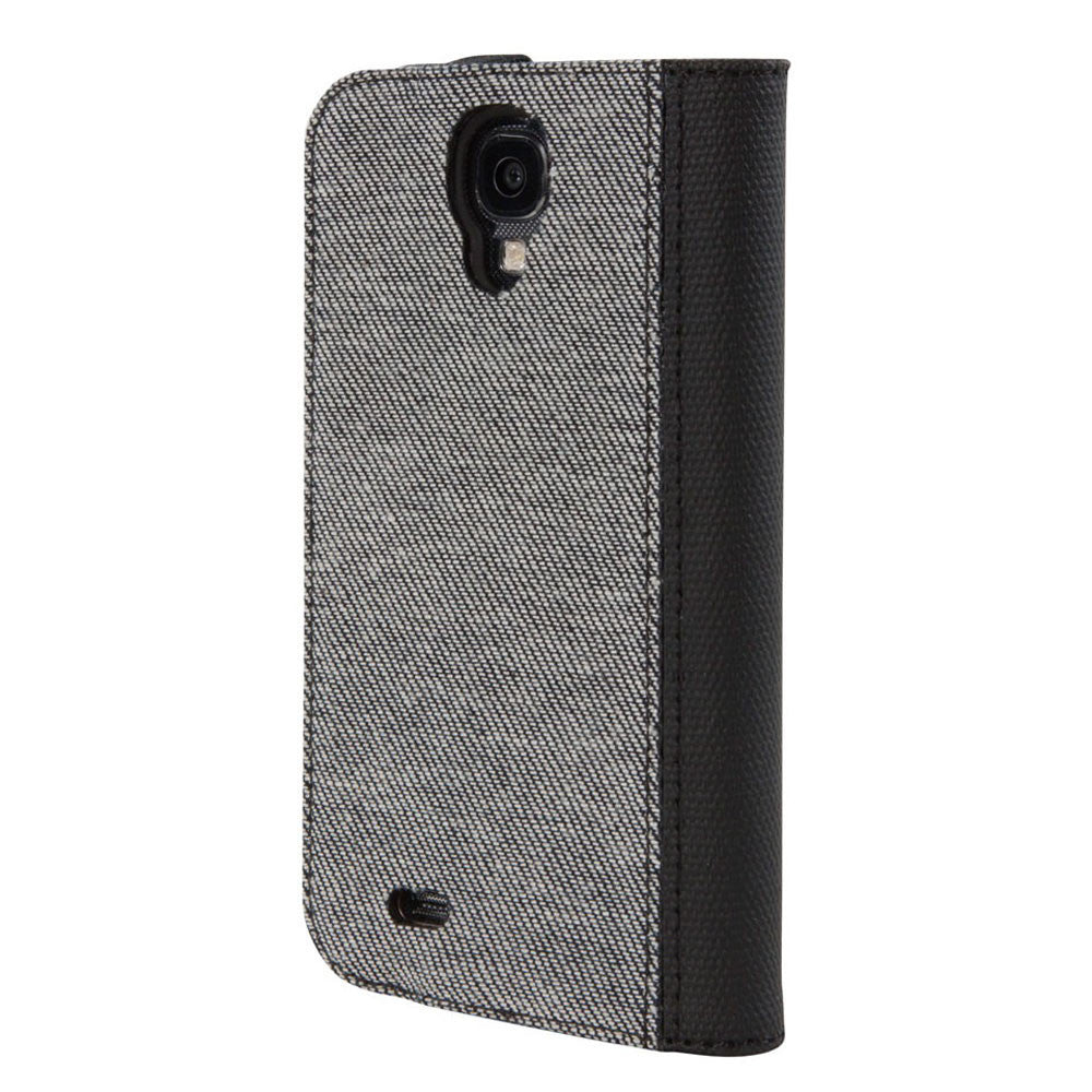 Hex: Icon Wallet for Samsung Galaxy S4 - Grey Denim (HX1507) back