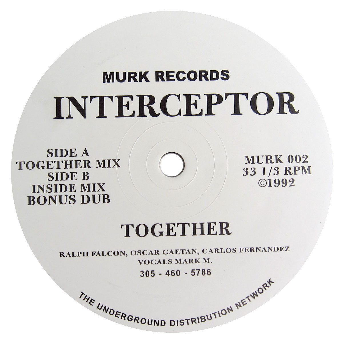Interceptor: Together Vinyl 12""