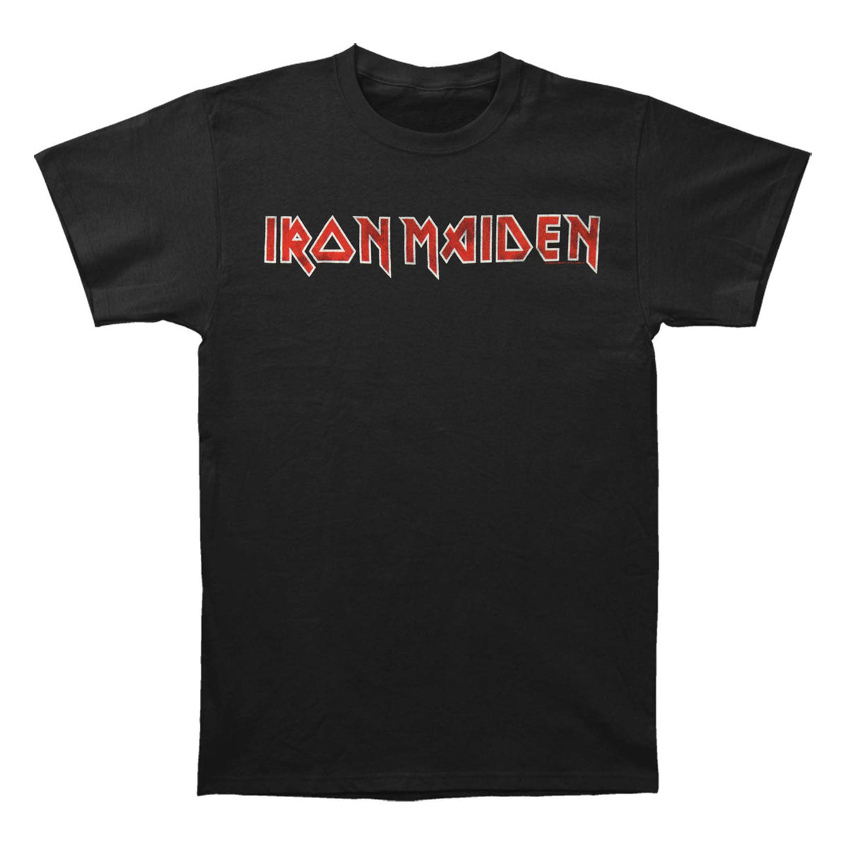 Iron Maiden: Distressed Logo Shirt - Black
