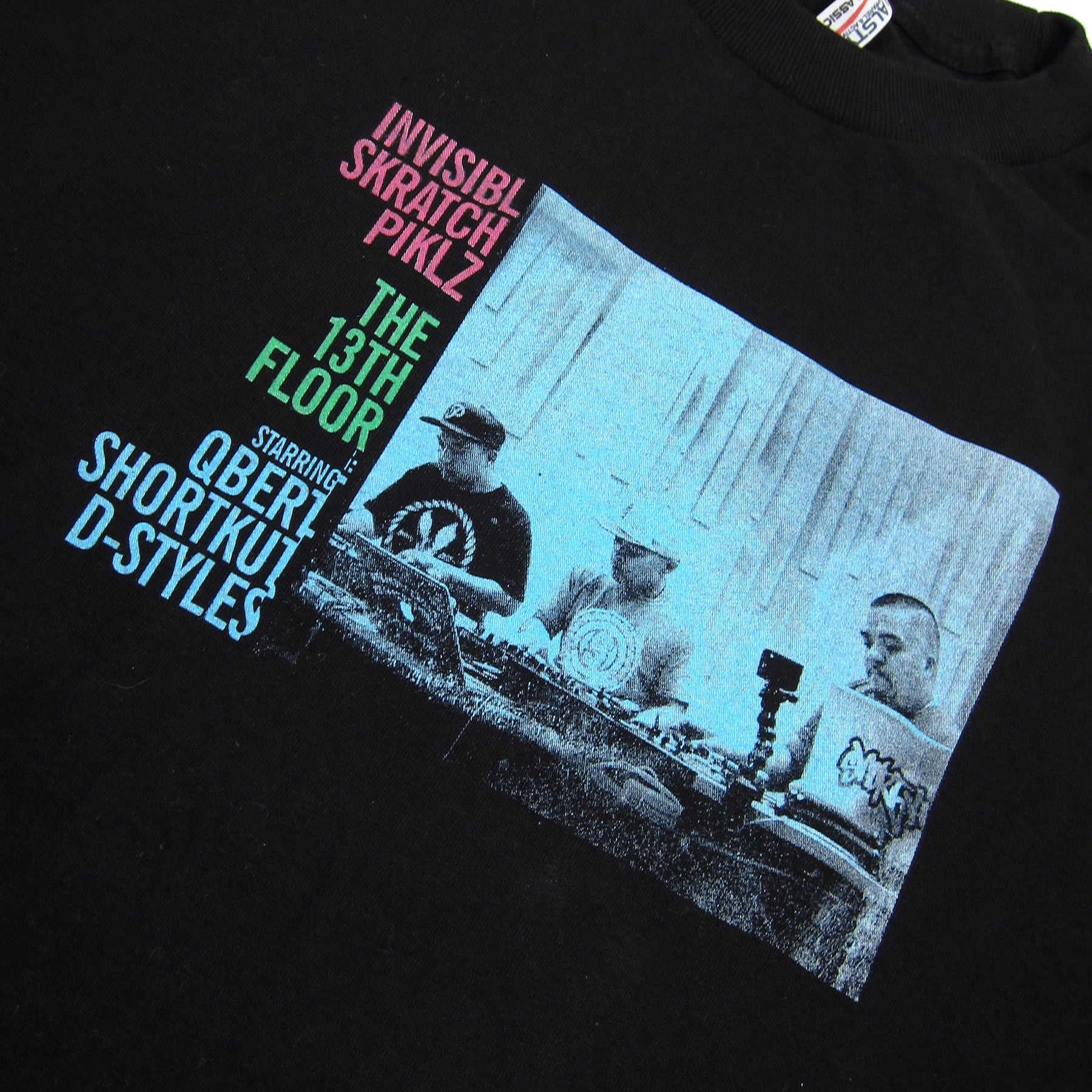 Invisibl skratch piklz the 13th floor album shirt black for 13th floor pitch black