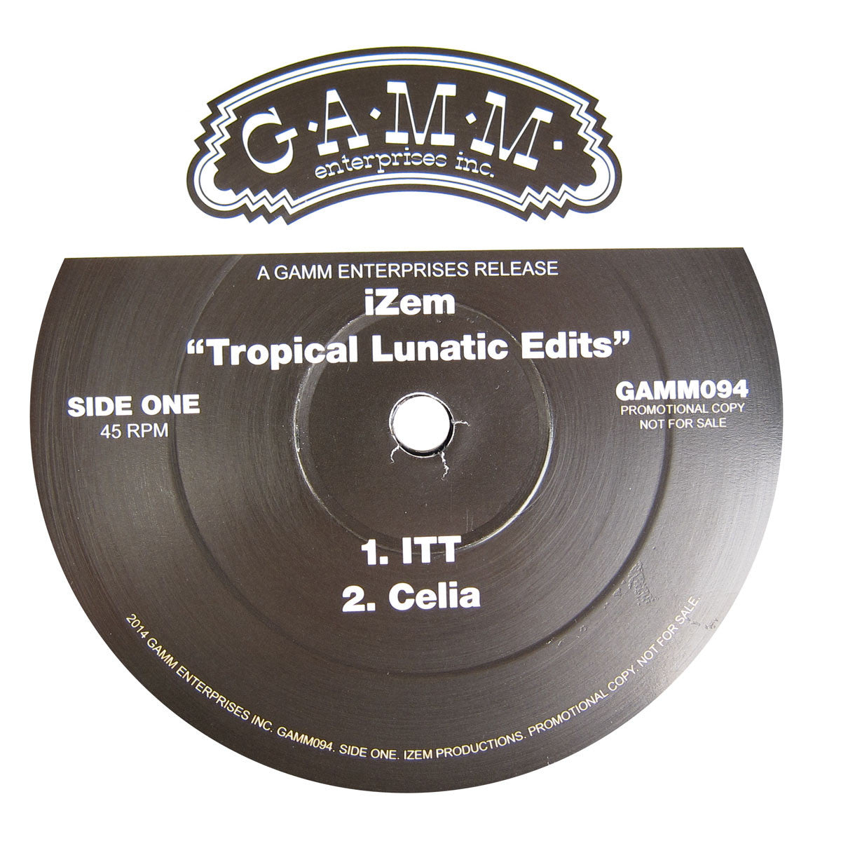 Izem: Tropical Lunatic Edits (Fela) Vinyl 12""