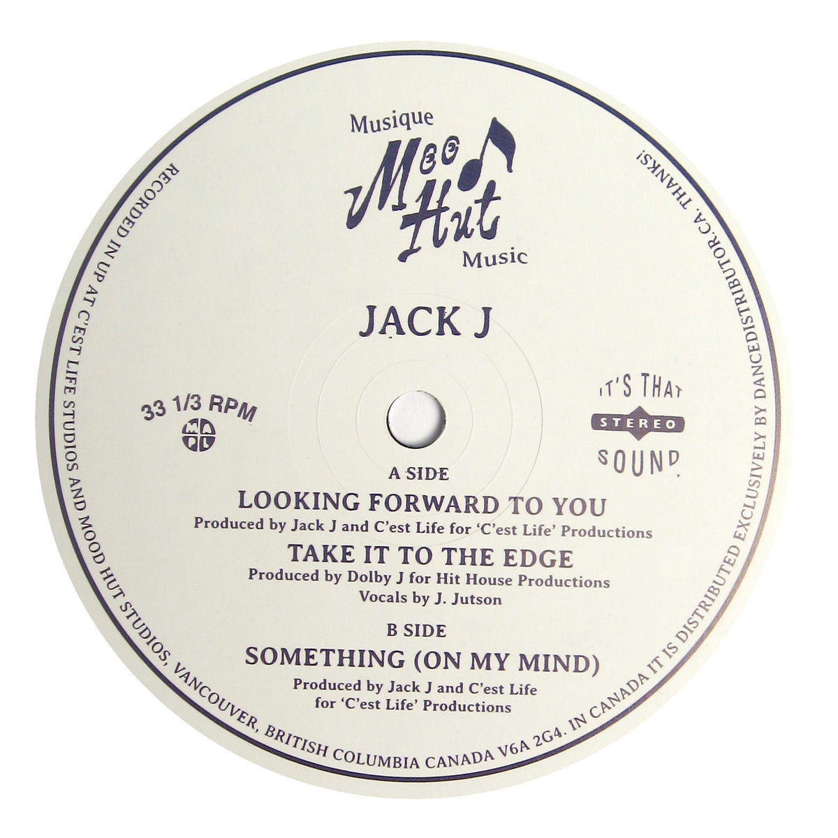Jack J: Looking Forward To You Vinyl 12""