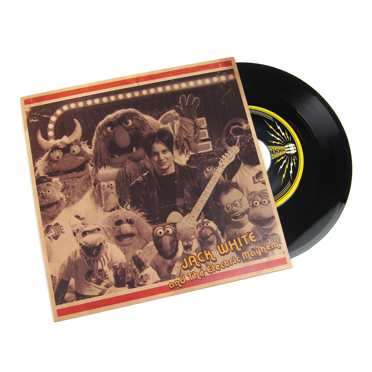 Jack White And The Electric Mayhem: You Are The Sunshine Of My Life (The Muppets) Vinyl 7""