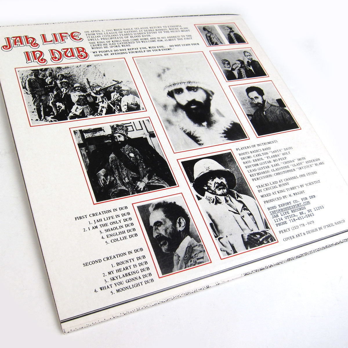 Scientist: Jah Life In Dub Vinyl LP - Original Pressing Cover back