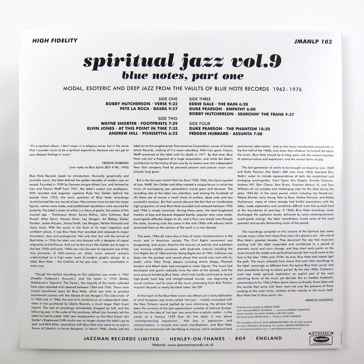 Jazzman: Spiritual Jazz 9 - Blue Notes Part One Vinyl 2LP